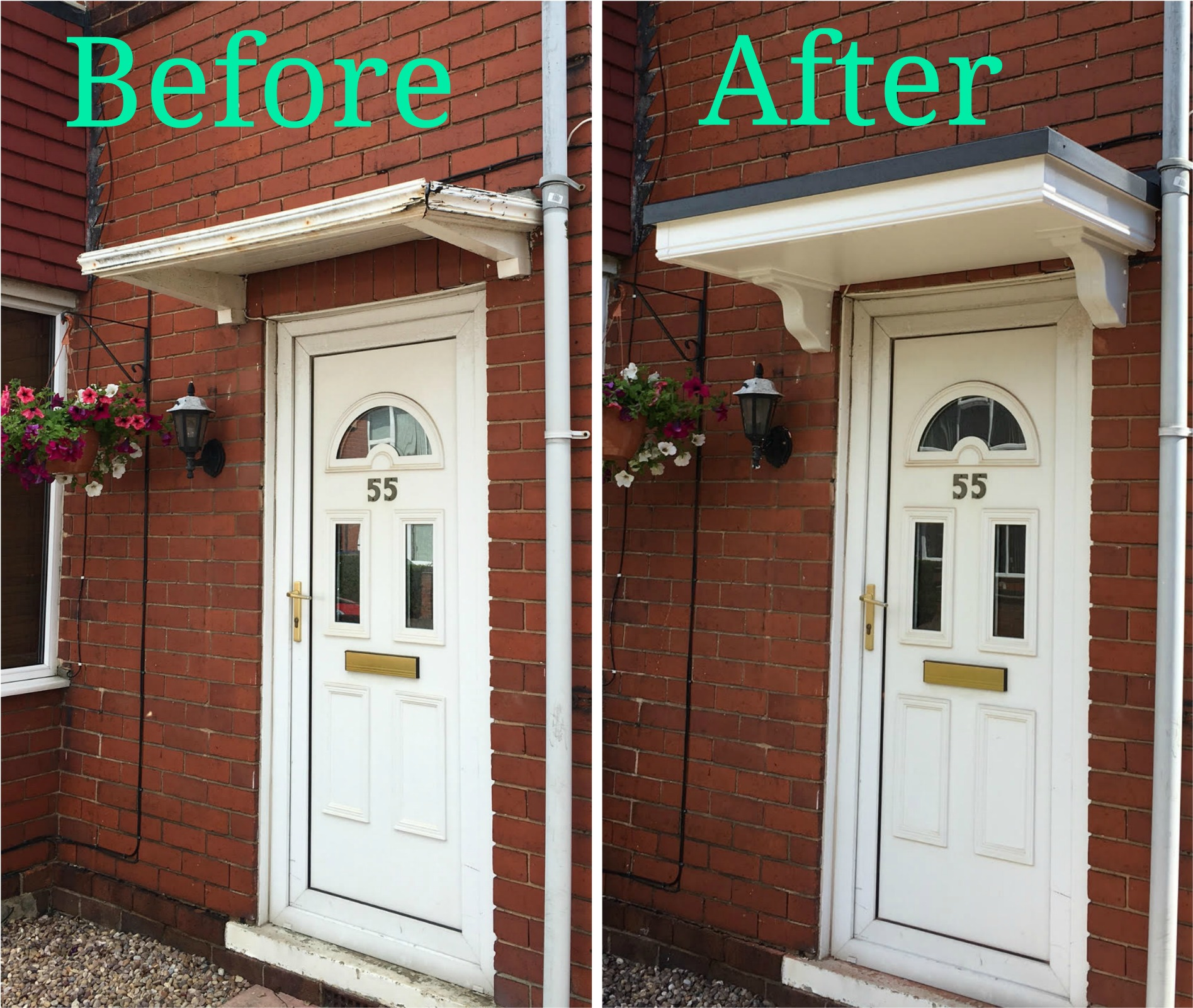Door Canopy Installation