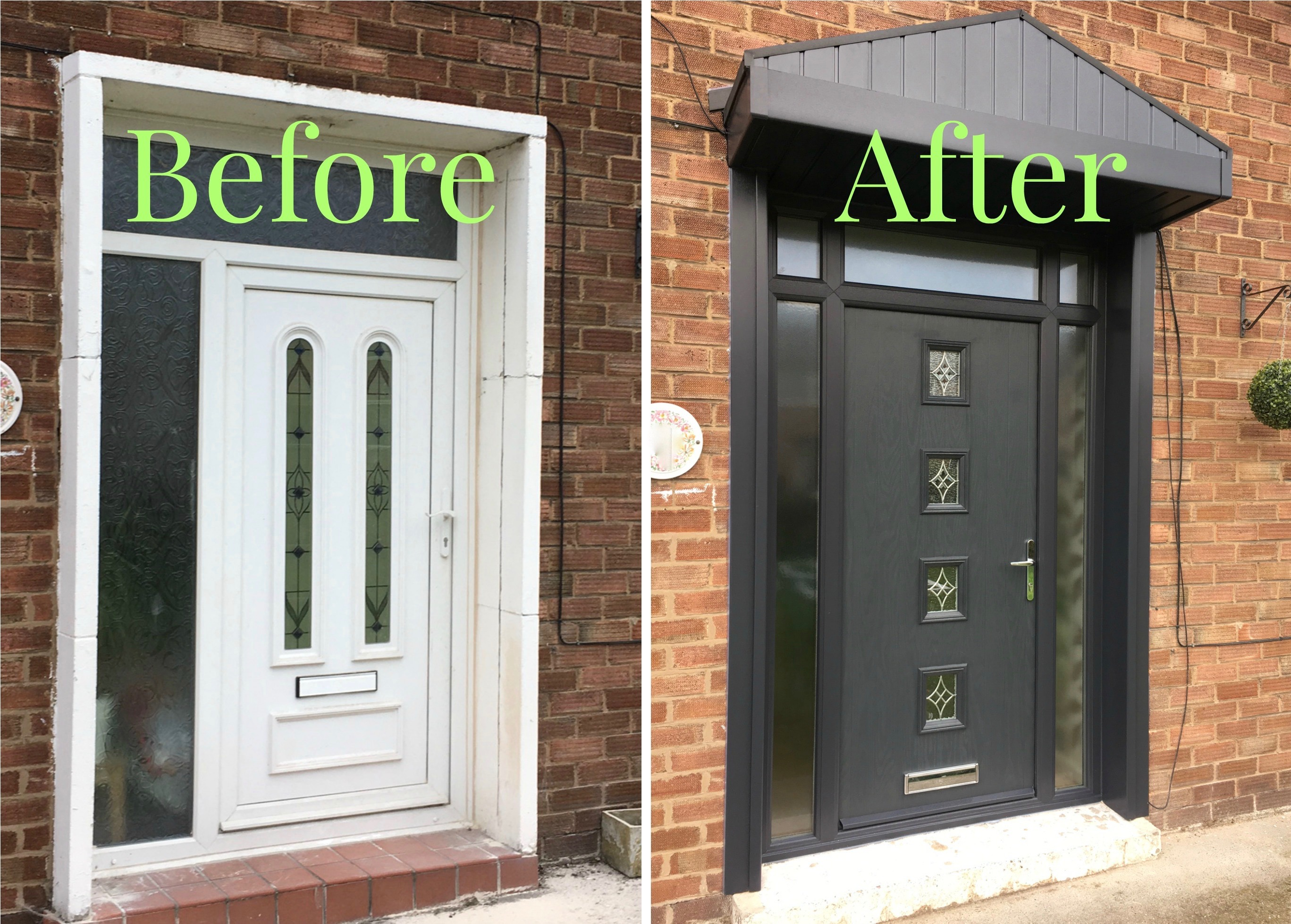 Bespoke Door And Canopy Installation