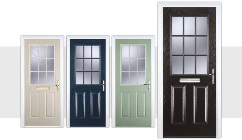 Youu0027ll find the latest technology and design in the Decra Doors composite doors. When youu0027re indoors youu0027ll enjoy loads of style strength and security.  sc 1 st  Decra Doors & Two Panel 1 Grill Composite Doors | Decra Doors Doncaster