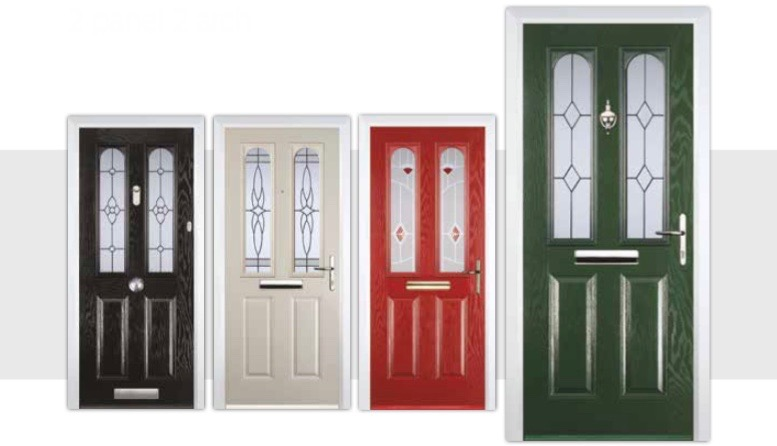2 panel 2 arch composite doors decra doors doncaster for Door 2 door doncaster