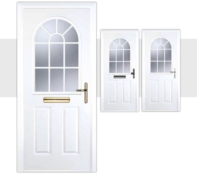 Youu0027ll find the latest technology and design in the Decra Doors composite doors. When youu0027re indoors youu0027ll enjoy loads of style strength and security.  sc 1 st  Decra Doors & 2 Panel Sunburst Composite Doors | Decra Doors Doncaster pezcame.com