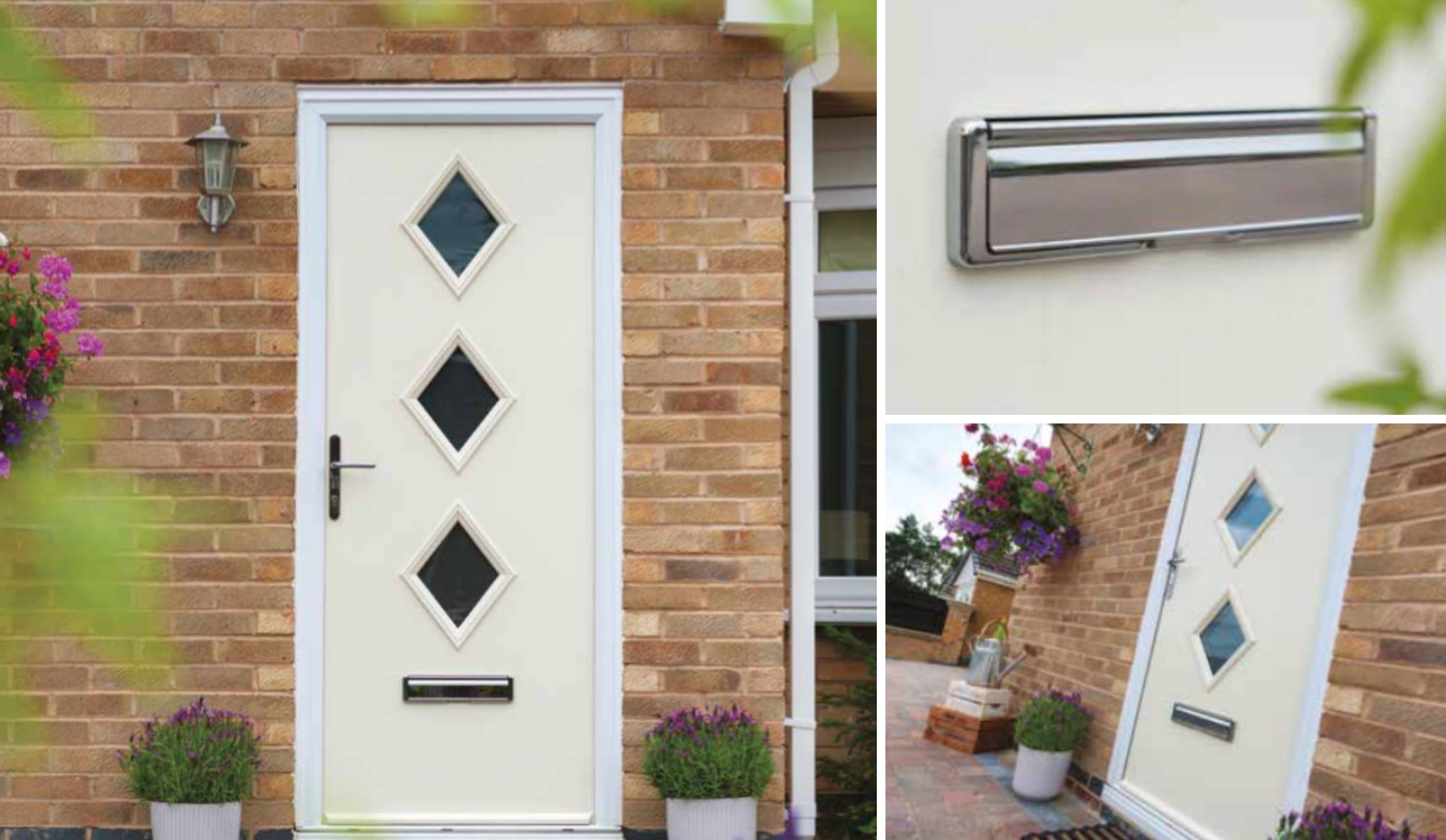 (Door pictured is 3 Diamond in cream with stainless steel furniture and Satin glass) : door composite - pezcame.com