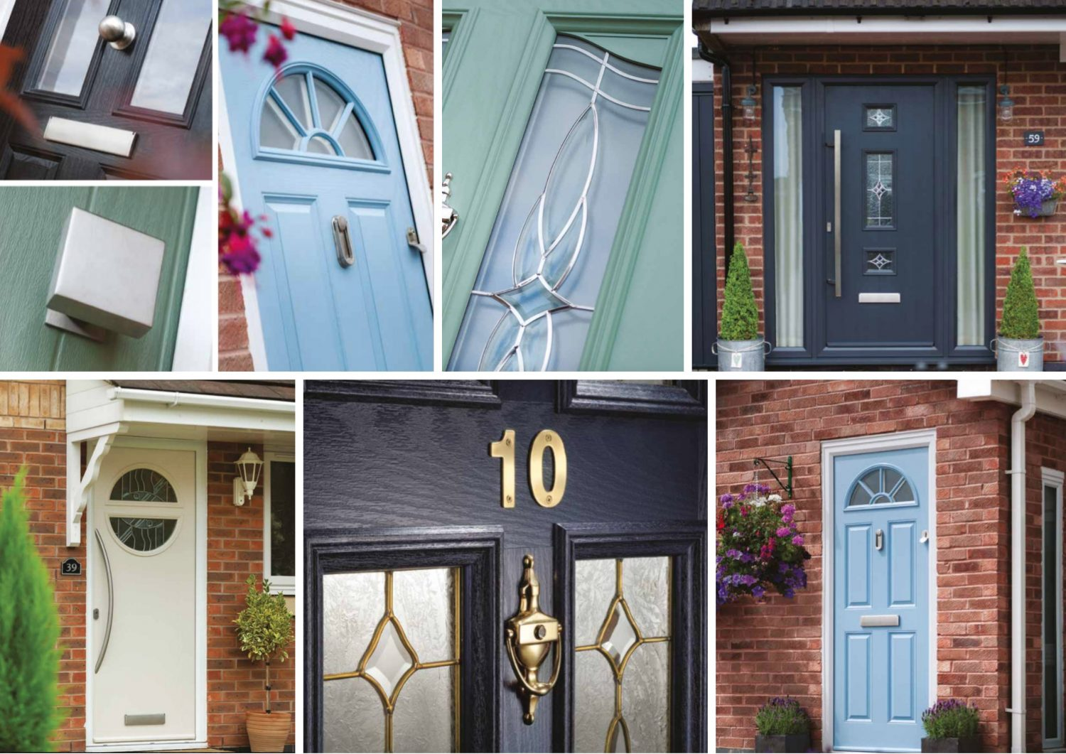 Doncasteru0027s Decra Doors have a beautiful range of Composite Doors. Great colours and brilliant quality with a features that you can combine in many ... & Composite Doors | Decra Doors Doncaster